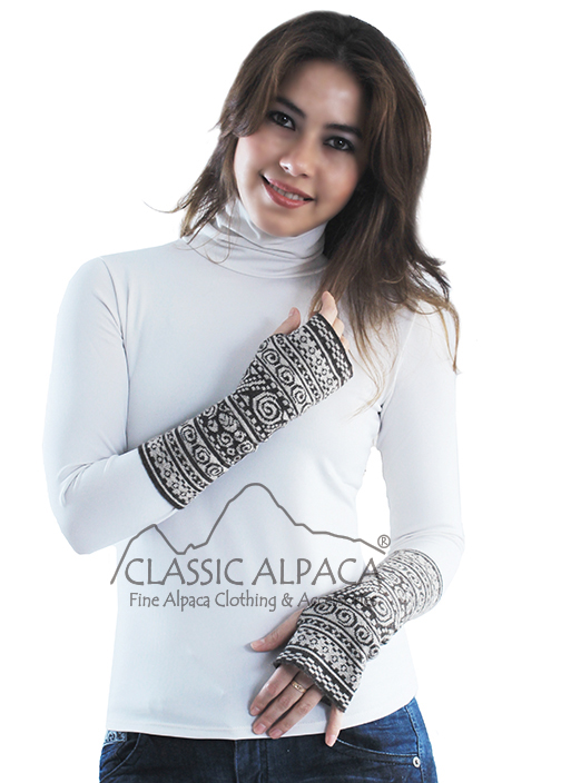 Baby Alpaca Fingerless Gloves Long