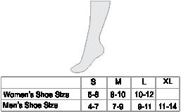 Alpaca Hiker Unisex Socks Size chart