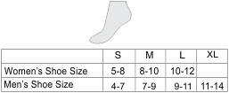 Alpaca Golf Unisex Socks Size chart