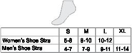 Alpaca Yoga Socks Size chart