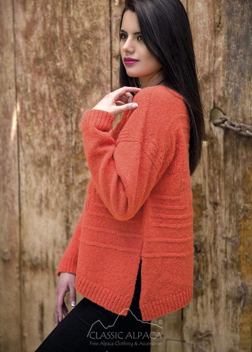 Asymmetric Alpaca Sweater