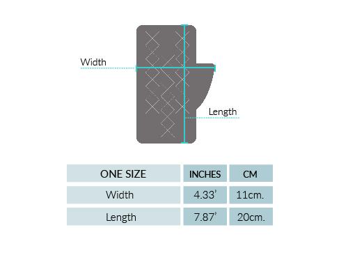 Scallop Lace Alpaca Fingerless Gloves Size chart