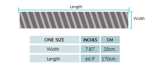 Snake Cable Alpaca Scarf Size chart