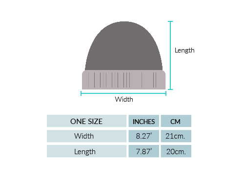 Shadow Cable Alpaca Hat Size chart