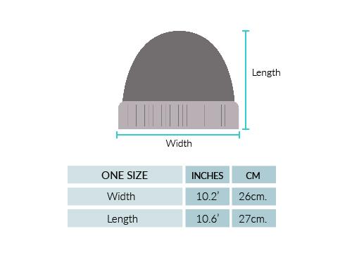Justin Striped Alpaca Hat Size chart