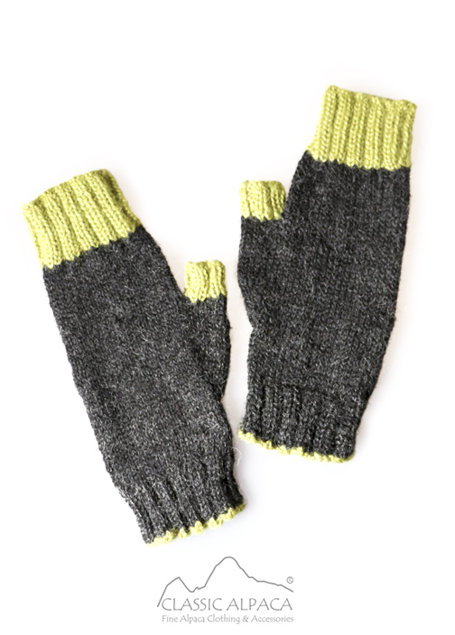 Tassel Baby Alpaca Fingerless Gloves