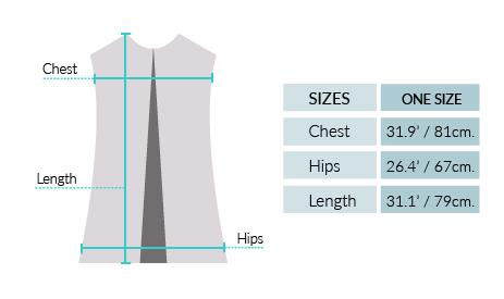 Royal Alpaca Lady Pocket Coat Vest Size chart