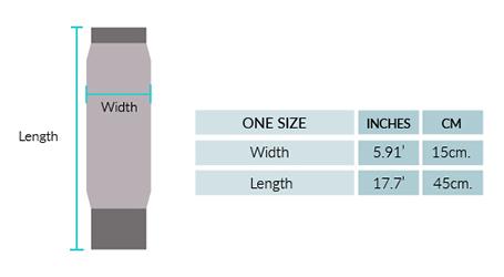 Ilave Alpaca leg Warmer Size chart