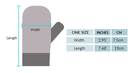 Alpaca Kids - Alpaca Mittens Size chart