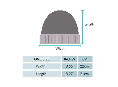 Natura Alpaca Knit Hat Size chart