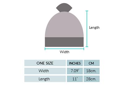 Annie Baby Alpaca  Fur Pompom Hat Size chart