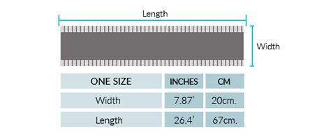 Ethnic Baby Alpaca Infinity Scarf Size chart
