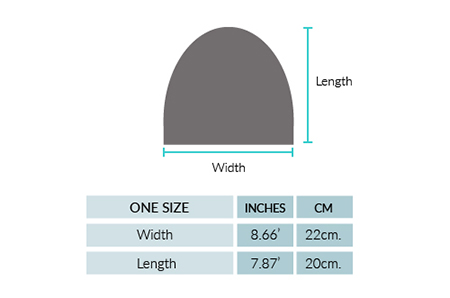 Geometric Baby Alpaca Hat Size chart