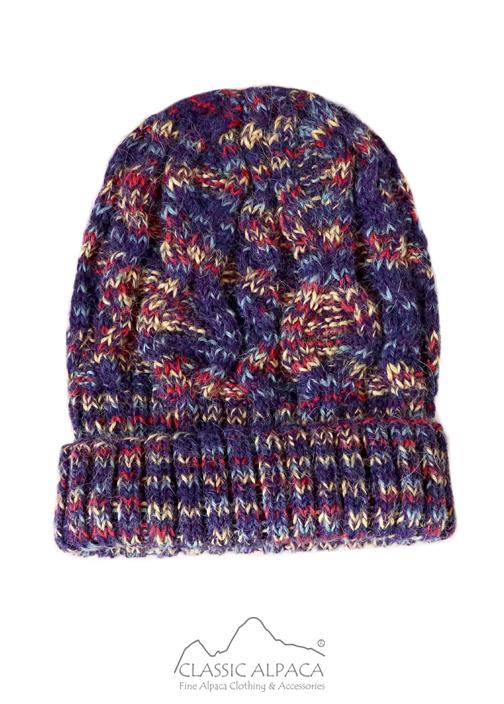 Space Dye Cable Alpaca Hat