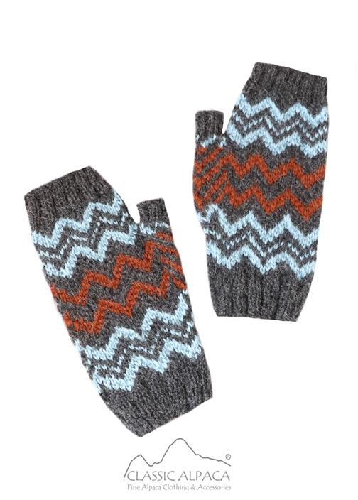 Sunset Baby Alpaca Fingerless Gloves