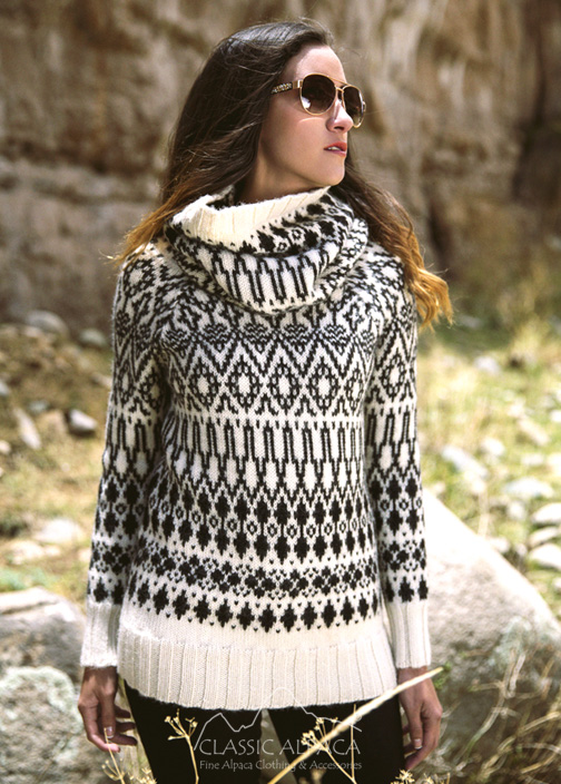 Agathe Turtleneck Alpaca Sweater