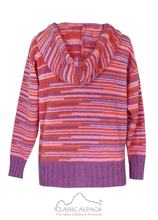 Multicolor Alpaca Hooded Jacket