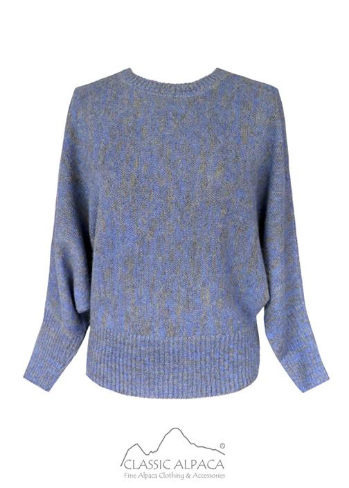 Alpaca Bat Sleeve Pullover Sweater