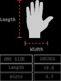 Ginevra Royal Alpaca Gloves Size chart