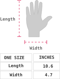 Dallas Baby Alpaca Gloves Size chart