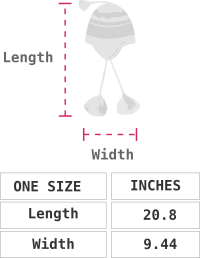 Sumbawa Alpaca Hat with Ear Flaps Size chart