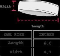 Agathe Alpaca Headband Size chart