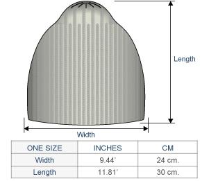 Justin Alpaca Hat Size chart