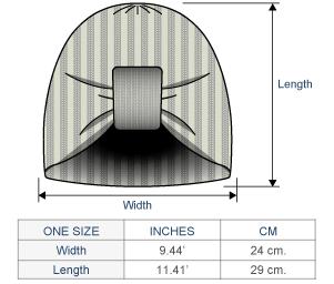 Naisha Alpaca Hat Size chart