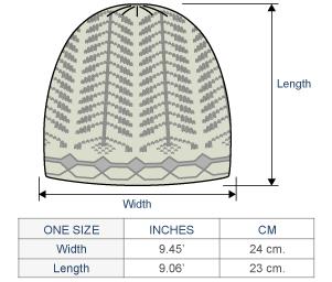 Charlotte Brushed Alpaca Hat Size chart