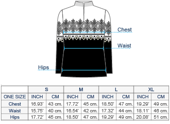 Antonia Half-Zip Alpaca Sweater Size chart