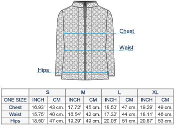 Norwegian Alpaca Cardigan Size chart