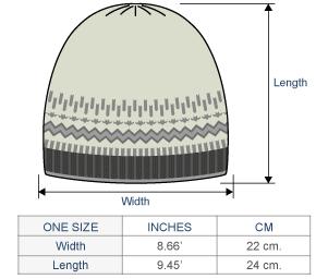 Merrivale Baby Alpaca Hat Size chart