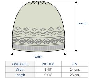 Arctic Alpaca Hat - Fleece Lining Size chart