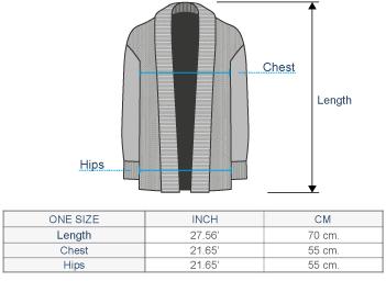 Vivien Alpaca Cardigan Size chart