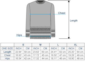 Wayfarer Alpaca Sweater  Size chart
