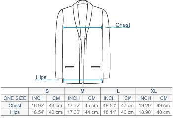 Micaela Cable Alpaca Cardigan Size chart