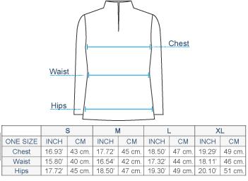 Giacca Half-Zip Alpaca Sweater Size chart