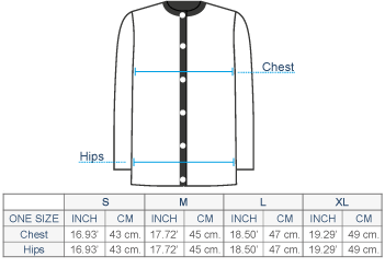 Waverly Baby Alpaca Cardigan Size chart