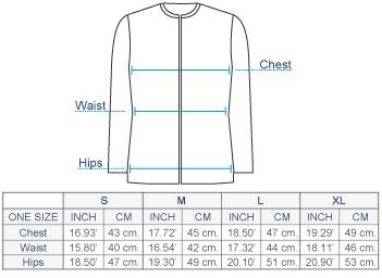 Ludmila Baby Alpaca Full Zip Sweater Size chart