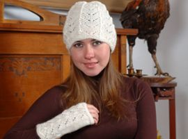 Fish Tail Alpaca Fingerless Gloves | Classic Alpaca Peru