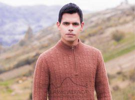 Joseph Zip Neck Alpaca Sweater | Classic Alpaca Peru