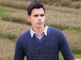 Alpaca Sweater Mens Pullover Vneck | Classic Alpaca Peru