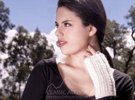 Alpaca Cable Fingerless Gloves | Classic Alpaca Peru