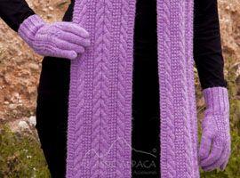 Classic Cable Alpaca Gloves | Classic Alpaca Peru