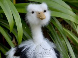 PREMIUM Baby Suri Fur - Ostrich Ornament