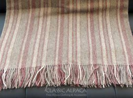 Multi-Striped Alpaca Blanket