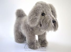 BABY ALPACA Fur - Schnauzer Puppies Ornament