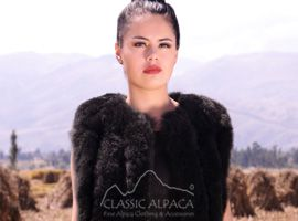 Vertical Fur Vest with Pockets and Closures