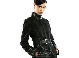 Alpaca Coat Leather Belt
