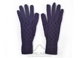 Snake Cable Alpaca Gloves | Classic Alpaca Peru